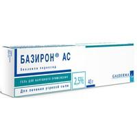 Базирон АС, гель д/наружн. прим. 2.5% 40 г №1