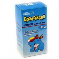 Бромгексин, сироп 4 мг|5 мл 100 мл №1 флаконы